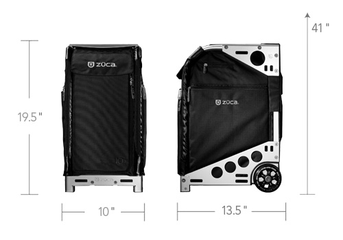 Zuca Pro Artist Case With The Graphite Black With Black Frame