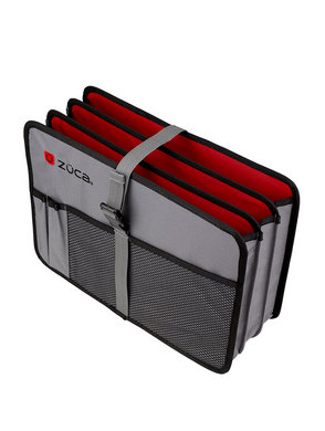 Document Organizer, Gray/Red