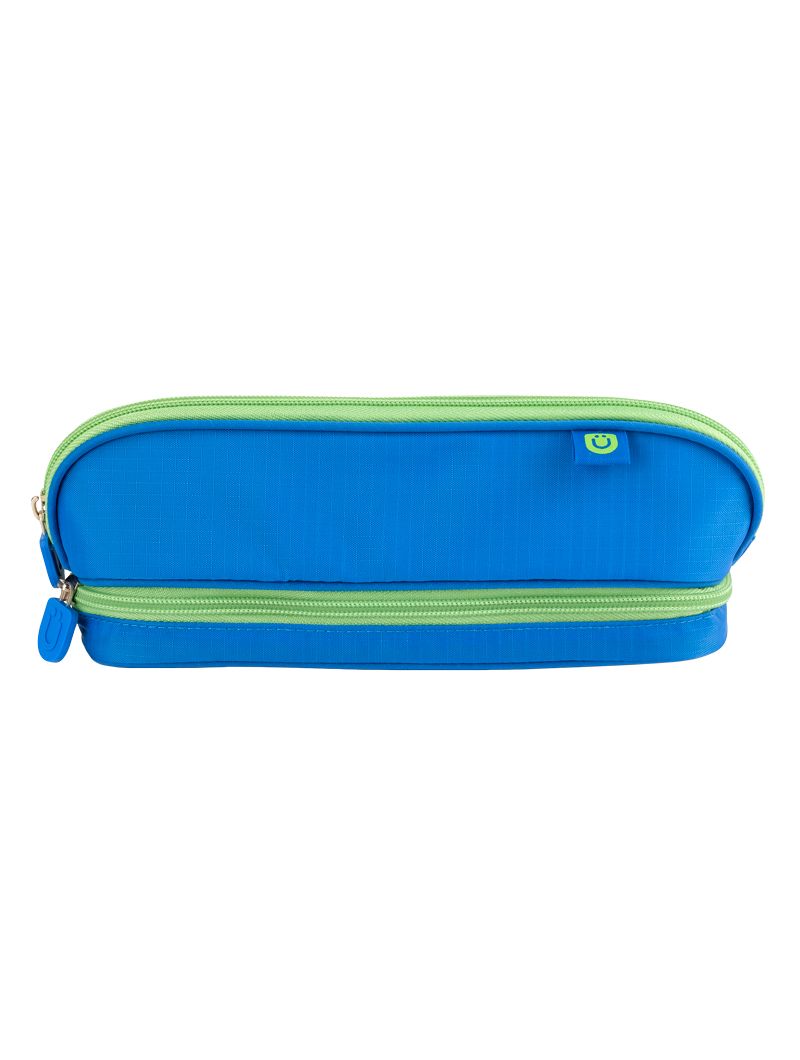 Pencil Case, Blue/Green
