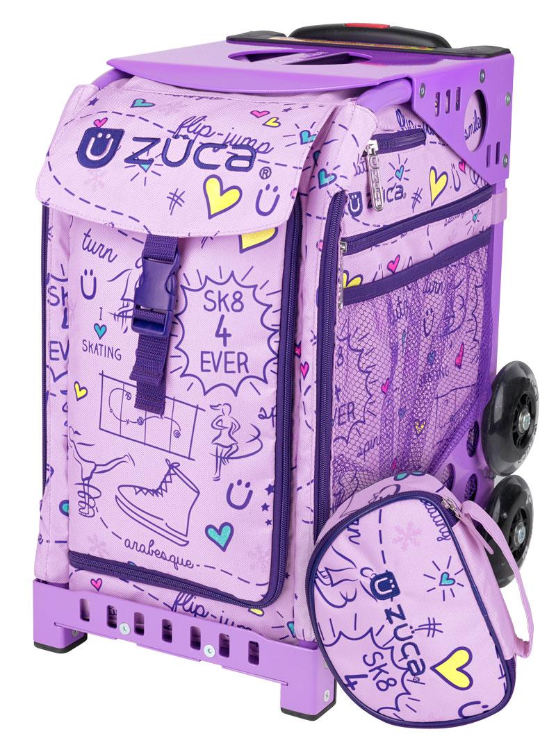 sk8 princess limited editionlilac frame flashing wheelset - Zuca Frame