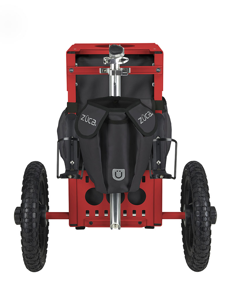 Disc Golf Cart Gunmetal/Red
