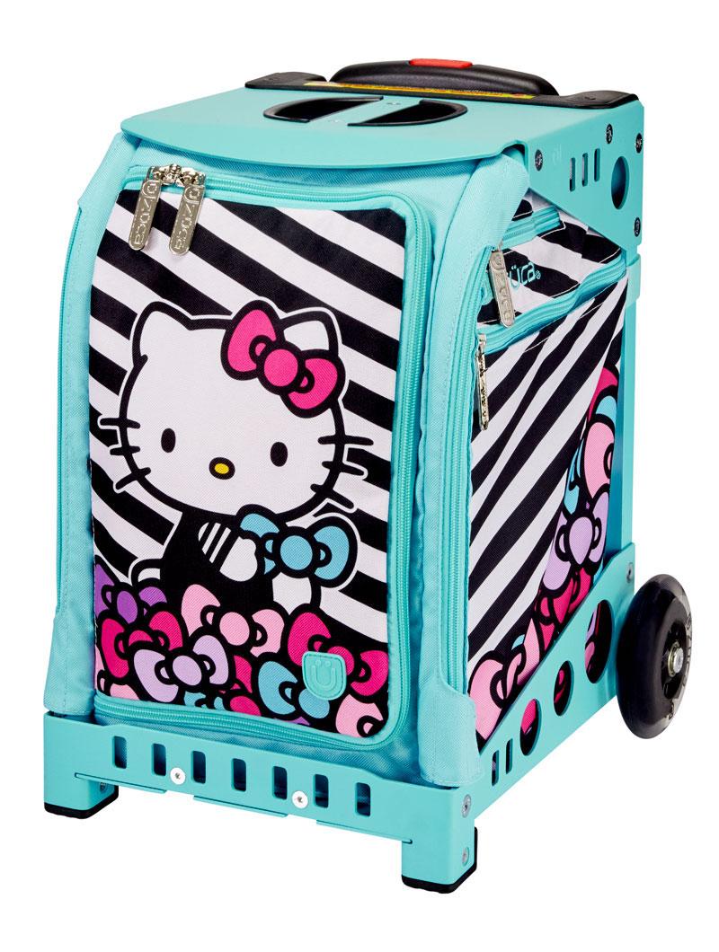 3195afb04 Buy Mini Hello Kitty Stripes & Bows/Aqua Frame Flashing Wheels Bag ...
