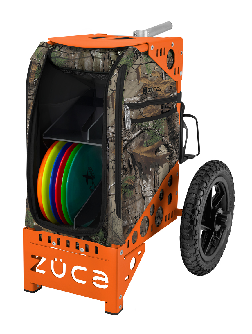 buy disc golf cart realtree xtra camo orange bag zÜca