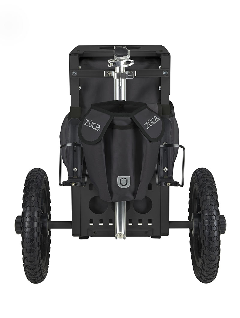 Rolling Fishing Cart with Seat - All-Terrain Cart, Gunmetal/Black