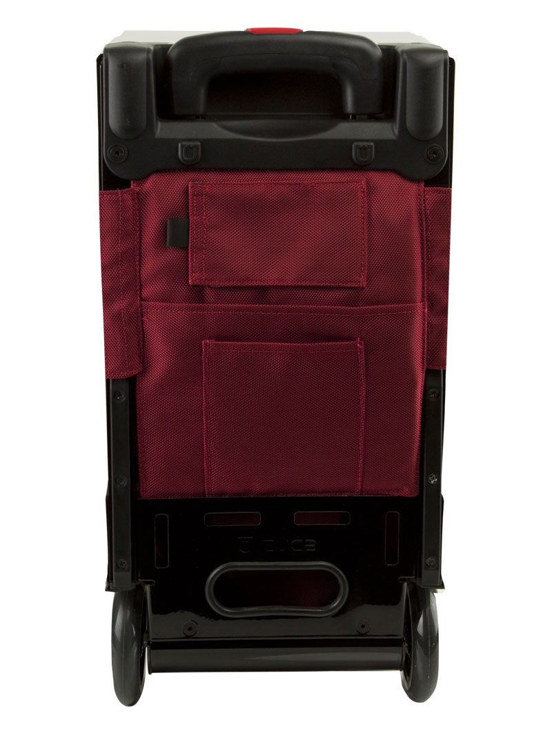 Rolling Bag/Cart with Seat - Pro Travel Ruby Red/Black