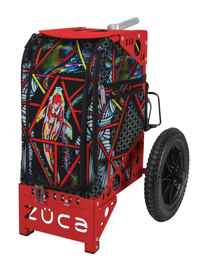 Limited Edition Electric Koi Disc Golf Cart/Red