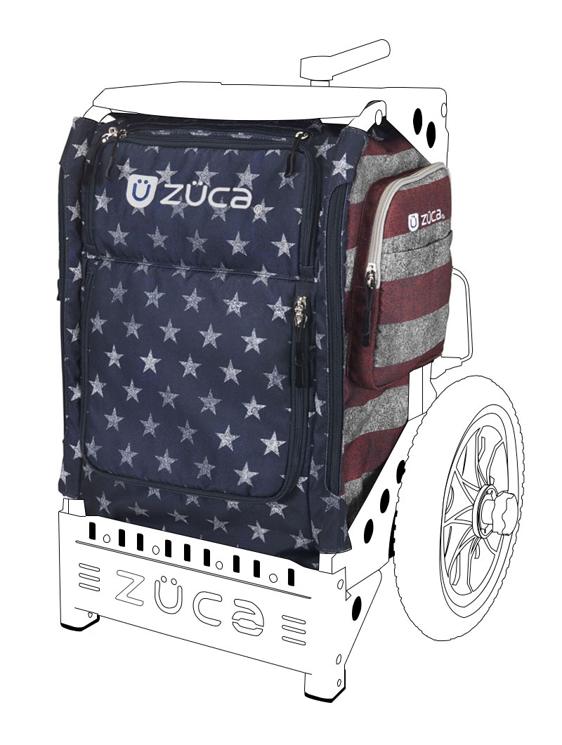 Trekker Disc Golf Insert Bag/Old Glory