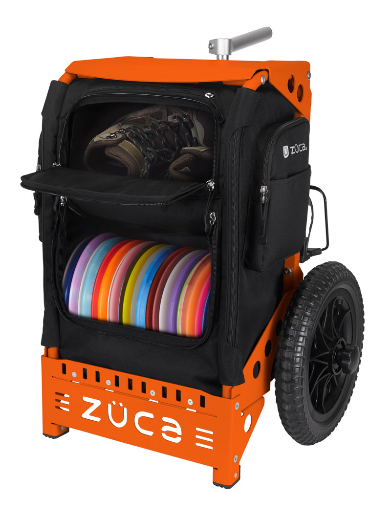 Trekker Disc Golf Cart Black/Orange