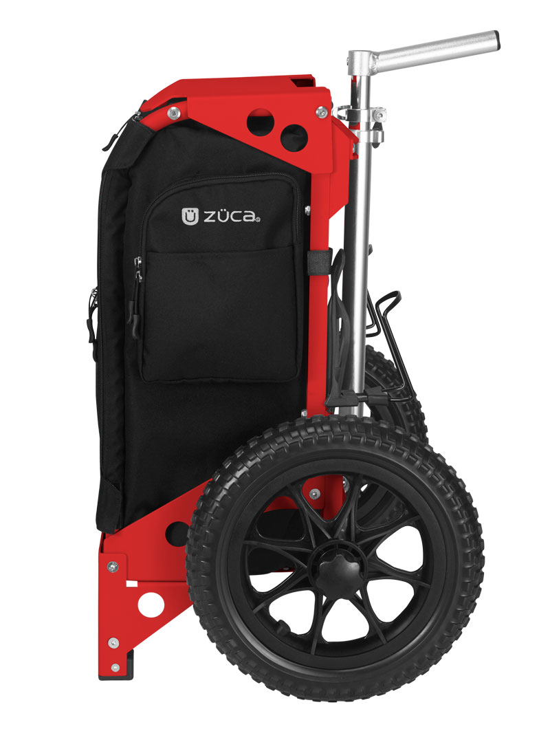 Trekker Disc Golf Cart Black/Red