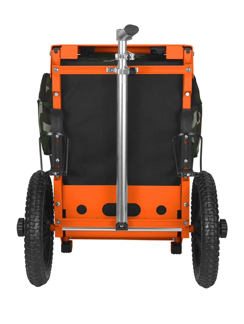 Trekker Disc Golf Cart Woodland Camo/Orange