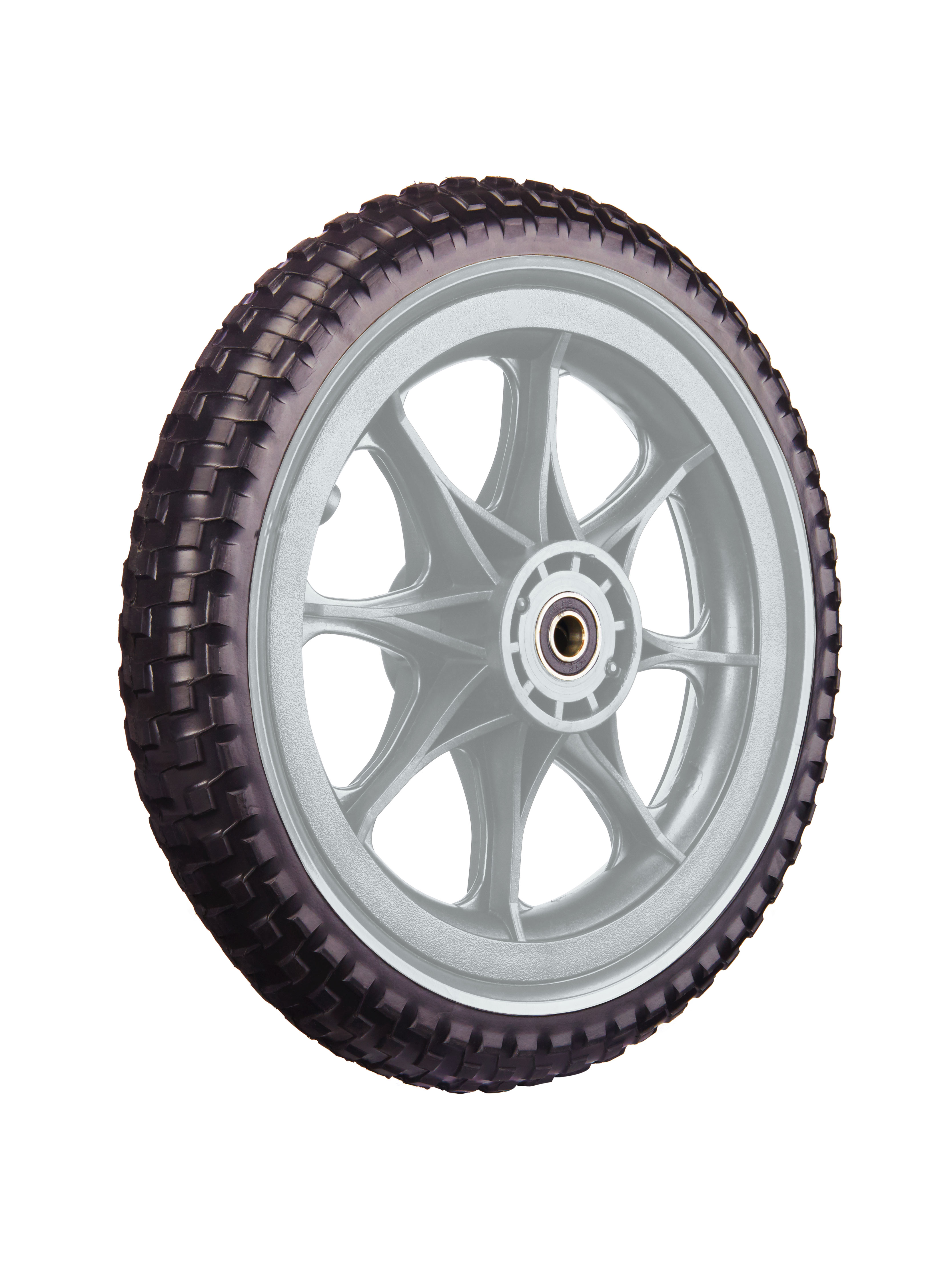 All-Terrain Tubeless Foam Wheel, Silver/Gray