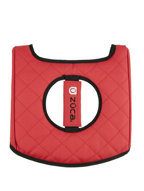 Seat Cushion, Black/Red