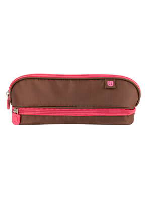 Pencil Case, Brown/Pink