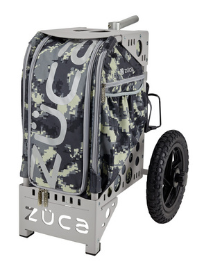 Durable Rolling Camping Cart with Seat - All-Terrain Cart Anaconda/Gray