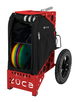 Disc Golf Cart Onyx/Red