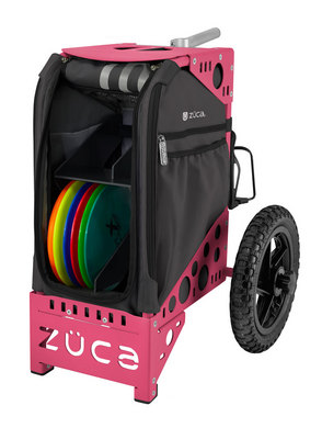 Disc Golf Cart Gunmetal/Pink