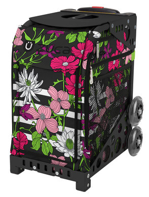 Petals & Stripes/Black Frame Non-Flashing Wheels