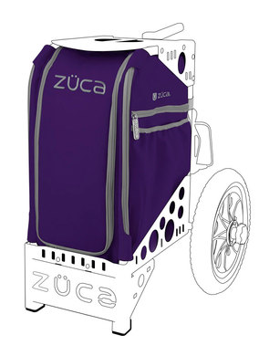 Purple Disc Golf Insert Bag w/Accessory Pouch