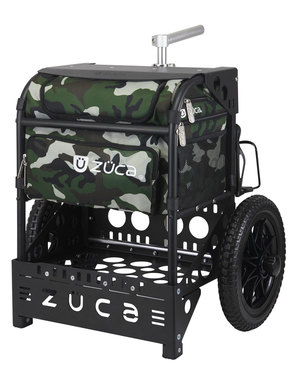 Transit Disc Golf Cart Woodland Camo/Matte Black