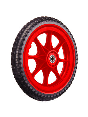 All-Terrain Tubeless Foam Wheel, Red