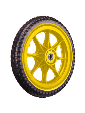 All-Terrain Tubeless Foam Wheel, Yellow