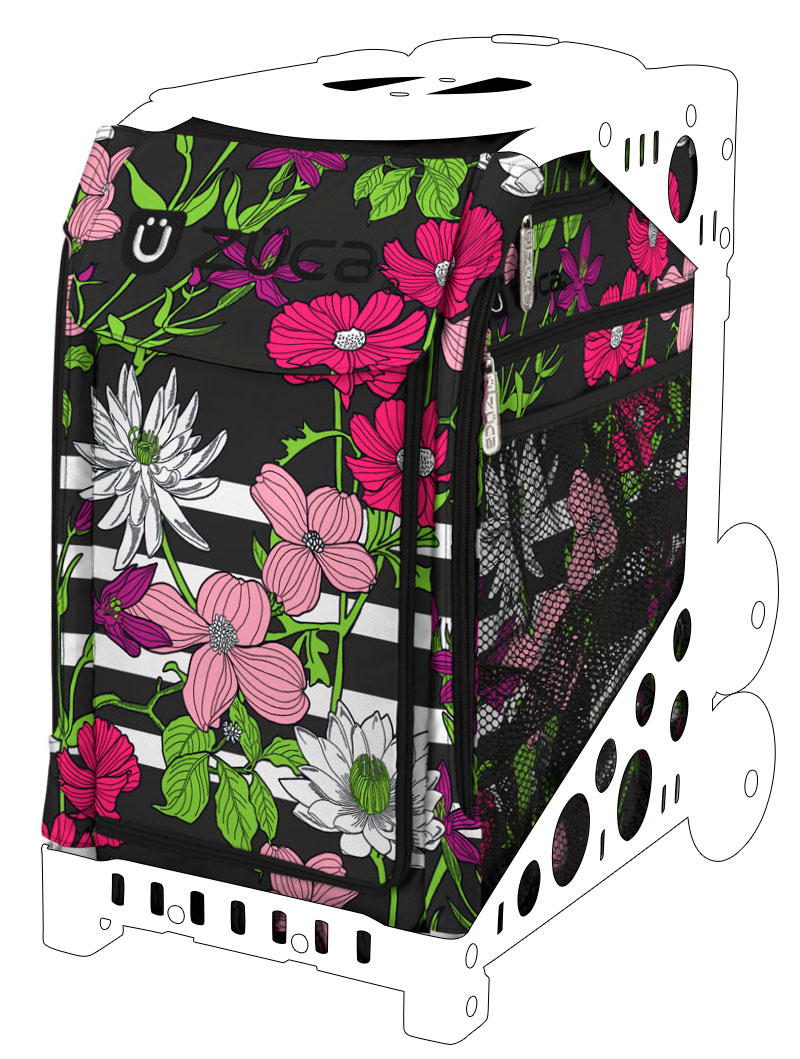 Sport Insert Bag and Frame with Built-in Seat Choose Your Color ZUCA Boho Floral Flowers